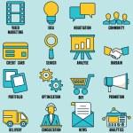 set internet hizmetleri simgeler - Bölüm 1 — Stok Vektör #60561641