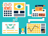 Vector concept of conversion rate optimization. Creating an experience for a website visitor with the goal of increasing the percentage of visitors that convert into customers — Stock Vector