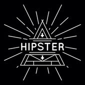 Vector linear abstract hipster logo template - magical triangle with crosses — Stock Vector