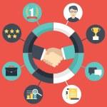 Customer Relationship Management — Stock Vector #65874619