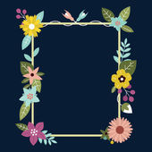 Frame with flowers. Can be used as creating card, invitation card for wedding, birthday and spring background — Stock vektor