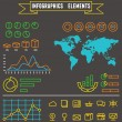 Linear set of business  infographics elements and symbols for design — Vector de stock  #68380161