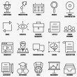 Vector set linear business education icons - part 1 — Stock Vector #71875919