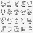Vector set linear business education icons - part 2 — Stock Vector #72142577