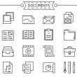 Set of linear documents icons — Stock Vector #73578463