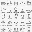 Set of seo and internet service icons - part 3 — Stock Vector #78550364
