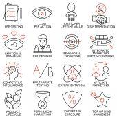Vektor-Satz von 16 Icons mit Bezug zu Unternehmensführung, Strategie, Karriere-Fortschritt und Business-Prozess. Mono-Linie Piktogrammen und Infografiken Designelemente - Teil 9 — Stockvektor