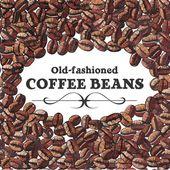 Fondo de café tostado en grano — Vector de stock