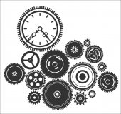 Gearwheel mechanism background — Stock Vector