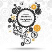 Gearwheel mechanism background — Stockvektor