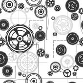 Seamless gearwheel mechanism background — Vetorial Stock