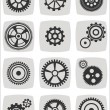 Gearwheel mechanism icon set, vector illustration — Stock Vector #61376081