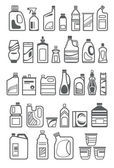 Household chemicals icons — Stock Vector