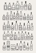 Alcohol, drinks, beverage icons — Stock Vector