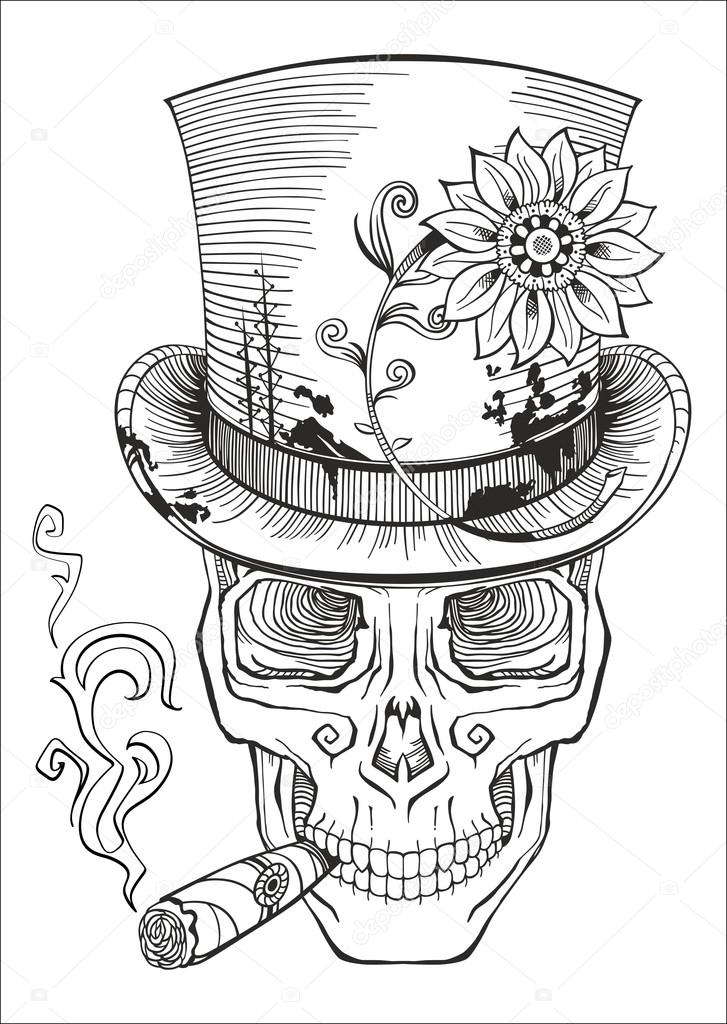 Stock Illustration Day Of The Dead Baron on 3551