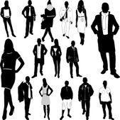 Uomini e donne di moda — Vettoriale Stock