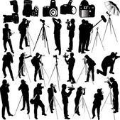 Photographers and cameraman collection — Stock Vector