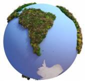 Globo com continentes de peles — Fotografia Stock