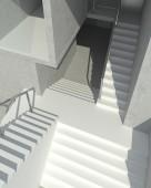 Dark blank interior scene concrete wall — Stok fotoğraf