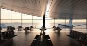 Modern airport passenger terminal — ストック写真