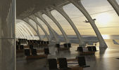 Modern airport passenger terminal — Стоковое фото