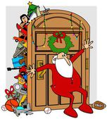 Santa's full closet — Stock Photo