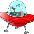 Santa in a flying saucer — Stock Photo #59749105