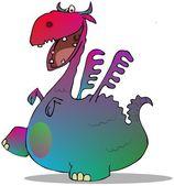 Colorful cartoon dragon — Stock Photo