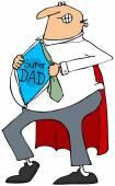Super Dad — Stock Photo