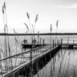 Dock for pleasure and fishing boats — Stock Photo #58357905