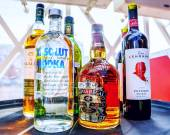 Collection of alcoholic drinks — Stock Photo