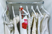 Wedding dresses at a discount — Stock Photo