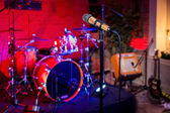 Rock konseri sahne — Stok fotoğraf