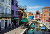 Colorful houses in Burano, Venice Italy — Stock Photo