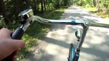 Bicycle riding — Stock Video