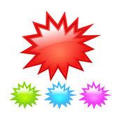 Starburst icon — Stock Vector