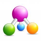 Molecule structure icon — Stock Vector