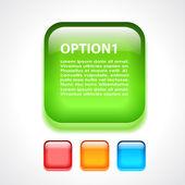 Glass option button — Stock Vector