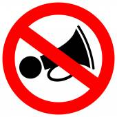 No loud sound sign — Stock Vector