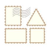 Vector post stamps — Vetorial Stock