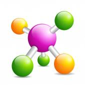 Molecule icon — Stock Vector