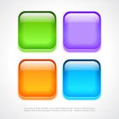 Square web buttons — Cтоковый вектор
