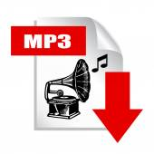 Mp3 download icon — Stock Vector