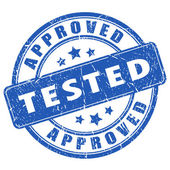 Tested and approved stamp — Stock Vector