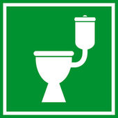 Wc toilet sign — Vettoriale Stock