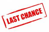 Last chance stamp — Stock Photo