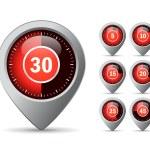 Vector timer icon — Stock Vector #60191923