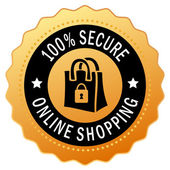 Secure shopping icon — Stock Vector