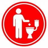Do not litter in toilet — Stock Vector