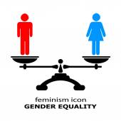 Gender equality icon — Stock Vector